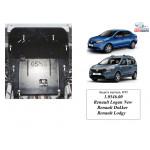 Защита Renault Logan 2012- V- все двигатель, КПП, радиатор - Kolchuga