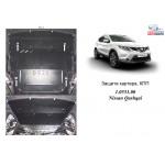 Защита Renault Kadjar 2014- V-1,2TCe; 1,5DCI двигатель и КПП і радиатор - Kolchuga