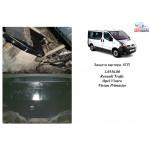 Защита Opel Vivaro 2001- V-2,5D двигатель, КПП, радиатор - Kolchuga