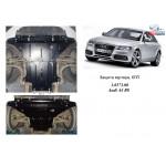 Защита Audi A4 В8 2007-2011 V-1,8; 2,0TFSI; двигатель, КПП, радиатор - Kolchuga