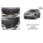 Защита Jeep Cherokee KL 2013- V-2,0CRDI двигатель, КПП, радиатор, - Kolchuga