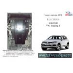 Защита Audi Q7 2005-2015 V-3.0 D; 3,6; 4.2 quattro двигатель, КПП, радиатор - Kolchuga