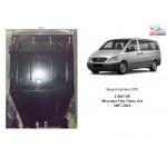 Защита Mercedes-Benz Vito D (W 639) 2005-2010 V-2,2 СDI двигатель, КПП, радиатор - Kolchuga