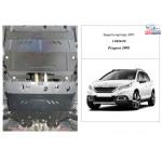 Защита Peugeot 2008 2016- V-1,2i двигатель, КПП - Kolchuga