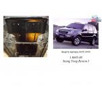 Защита Ssаng Yong Rexton 2001-2006 V-2,7XDI радиатор, двигатель, КПП, раздатка - Kolchuga