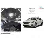 Защита Hyundai Sonata LF 2016- V-1,6; 2,0;2,4; двигатель, КПП, радиатор - Kolchuga