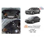 Защита Audi A4 B6/A4 В7 2000-2008 V-2,5TDI двигатель, КПП, радиатор - Kolchuga