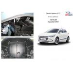 Защита Hyundai I-20 2014- V-1,4і двигатель, КПП, радиатор - Kolchuga