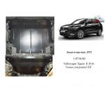 Защита Volkswagen Tiguan 2016- V-2,0TDI двигатель, КПП, радиатор - Kolchuga