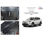 Защита Toyota RAV 4 IV HYBRID 2016- V-2,5i двигатель, КПП - Kolchuga