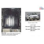 Защита Mercedes-Benz W 169 А 160 2004-2012 V- все двигатель, КПП - Kolchuga