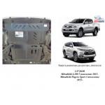 Защита Mitsubishi L200 2015- V-2,4TDI радиатор, двигатель, редуктор - Kolchuga