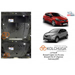 Защита Renault Captur 2013- V-1,5DCI двигатель, КПП - Kolchuga