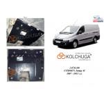 Защита Fiat Scudo 2007-2016 V-2,0 HDI двигатель, КПП, радиатор - Kolchuga