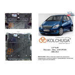 Защита Mercedes-Benz W 169 А 150 2004-2012 V-1,5i двигатель, КПП - Kolchuga