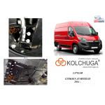 Защита Citroen Jumper IIІ 2014- V-2.2 Hdi двигатель, КПП, радиатор - Kolchuga