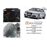 Защита Audi A4 В8 2011-2015 V-2.0 TDI, 2.0 TFSi двигатель, КПП, радиатор - Kolchuga