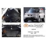 Защита Nissan X-Trail T30 2001-2007 V-2,0; 2,5 бензин двигатель, КПП, радиатор - Kolchuga