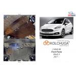 Защита Ford Fiesta  VIIІ EcoBoost 2018- V-1,0 двигатель, КПП - Kolchuga
