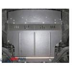 Защита Nissan Tiida (Versa) 2004- V- все двигатель, КПП, радиатор - Премиум ZiPoFlex - Kolchuga