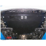 Защита Kia Picanto 2008-2011 V-1,1 двигатель, КПП, радиатор - Премиум ZiPoFlex - Kolchuga