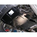 Защита Nissan Navara III 2005-2010 V 2,5 D двигатель, КПП, радиатор, редуктор - Премиум ZiPoFlex - Kolchuga