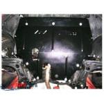 Защита Volkswagen Polo 2009- V-1,4; 1,6; двигатель, КПП, радиатор - Премиум ZiPoFlex - Kolchuga