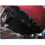 Защита Fiat Linea 2007- V-1,4 /turbo/ двигатель, КПП, радиатор - Премиум ZiPoFlex - Kolchuga