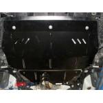 Защита Volkswagen Polo 2009- V-1,2 D двигатель, КПП, радиатор - Премиум ZiPoFlex - Kolchuga