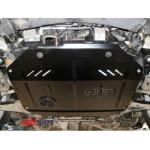 Защита Chevrolet Captiva 2011- V-2,4 двигатель,КПП,раздатка частично - Премиум ZiPoFlex - Kolchuga