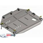 Защита Chevrolet Captiva 2011- V-3,0 двигатель,КПП,раздатка частично - Премиум ZiPoFlex - Kolchuga