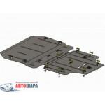 Защита Audi A6 C7 2011- V- все двигатель, КПП, радиатор - Премиум ZiPoFlex - Kolchuga