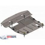 Защита Nissan Murano 2008-2015 V-3,5 двигатель, КПП, радиатор - Премиум ZiPoFlex - Kolchuga