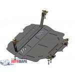 Защита Volkswagen Caddy WeBasto 2011- V-1,6D; 2,0D двигатель, КПП, радиатор - Премиум ZiPoFlex - Kolchuga