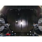 Защита Ford Focus III/EcoBoost/C-Max 2011- V- все двигатель, КПП, радиатор - Премиум ZiPoFlex - Kolchuga
