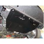 Защита Fiat L 500 2013- V-1,4; 1,3 D двигатель/КПП/радиатор - Премиум ZiPoFlex - Kolchuga