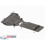Защита Infiniti QX 70 2013- V-3,7; 3,0D двигатель, КПП, радиатор - Премиум ZiPoFlex - Kolchuga