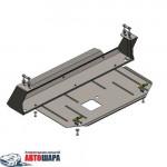 Защита Ford Transit/Transit Custom 2013- V-2.2 D; 2.2 TDCI; двигатель, КПП, радиатор - Премиум ZiPoFlex - Kolchuga