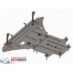 Защита Audi A4 В8 2007-2011 V-1,8; 2,0TFSI; двигатель, КПП, радиатор - Премиум ZiPoFlex - Kolchuga