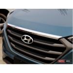 Hyundai Tucson TL 2015 накладка хром на капот - 2015