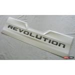 Toyota Hilux Revo 2014 накладка внешняя на задний борт Revolution белая