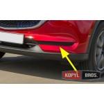 Mazda CX-5 2017+ накладки хром на передний бампер без противотуманных фар - ASP