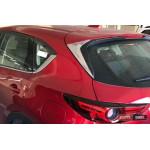 Mazda CX-5 2017+ хром накладки на задний спойлер - ASP