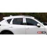 Mazda CX-5 2017+ хром накладки на дверные стойки и молдинги окон верхние ASP