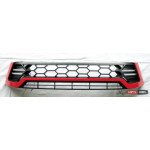 Toyota Hilux Revo 2014 решетка радиатора черная с красной полосой LED - 2016