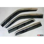 Nissan Juke ветровики дефлекторы окон ASP с молдингом нержавеющей стали / sunvisors - 2010