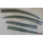 Suzuki SX-4 S-Cross ветровики дефлекторы окон ASP с молдингом нержавеющей стали / sunvisors - 2014