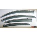Hyundai Solaris / Accent ветровики дефлекторы окон ASP с молдингом нержавеющей стали / sunvisors - 2010