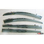 Kia Sportage R ветровики дефлекторы окон ASP с молдингом нержавеющей стали / sunvisors - 2010
