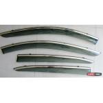 Mazda 3 ветровики дефлекторы окон ASP с молдингом нержавеющей стали / sunvisors - 2014